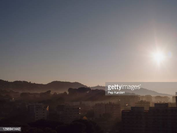 sunrise over tranquil view, cannes, french riviera, france - alpes maritimes stock pictures, royalty-free photos & images