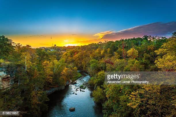 Sunrise over Vermillion River