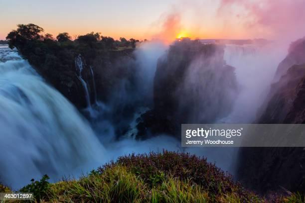 Sunrise over Victoria Falls, Matabeleland North, Zimbabwe