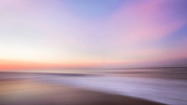 sunrise pastel colors abstract at jones beach in winter, long island, ny - horizontal stock pictures, royalty-free photos & images