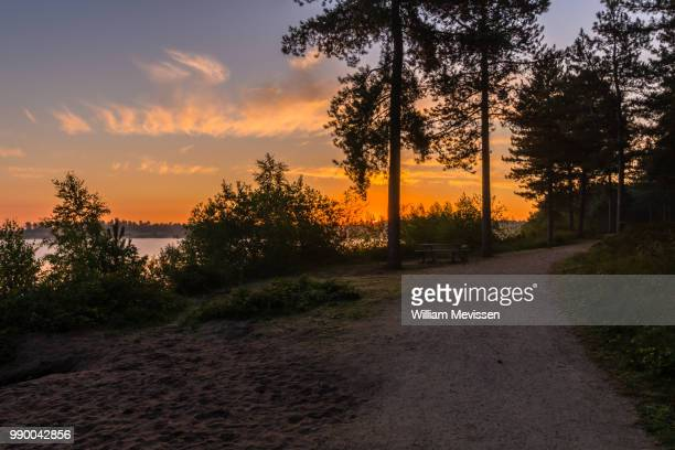sunrise pathway - william mevissen stock-fotos und bilder