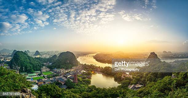 Sunrise photo taken in Guilin city, China