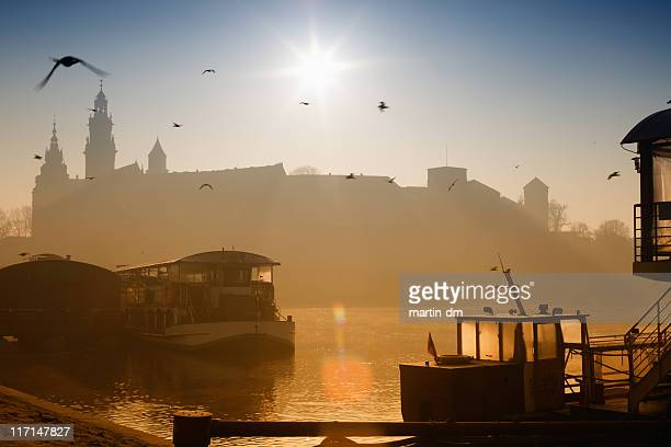 sunrise - wawel cathedral stock pictures, royalty-free photos & images