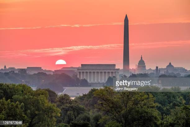 dc sunrise - washington dc stock pictures, royalty-free photos & images