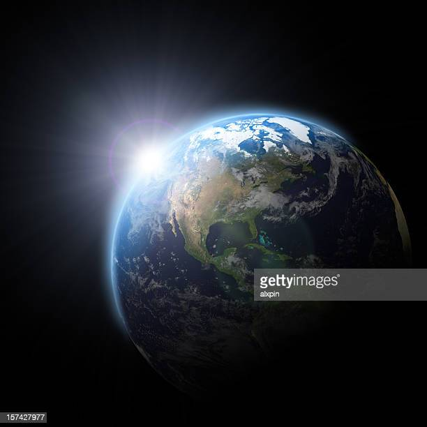 sunrise - satellite view stock pictures, royalty-free photos & images