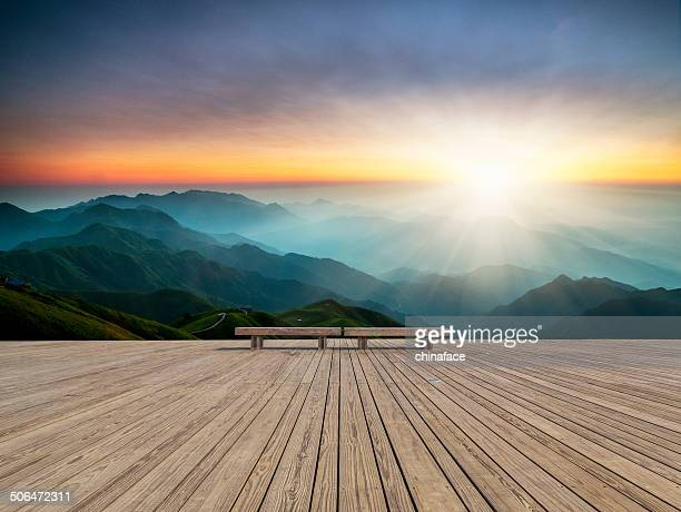 sunrise - landscape scenery stock photos and pictures