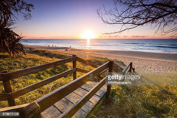 sunrise - queensland stock pictures, royalty-free photos & images