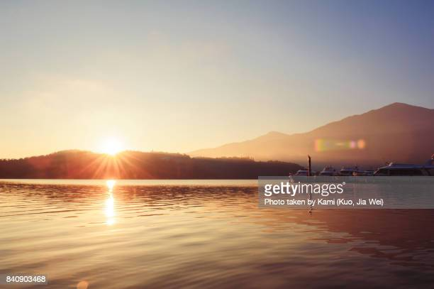 sunrise - sunset lake stock photos and pictures