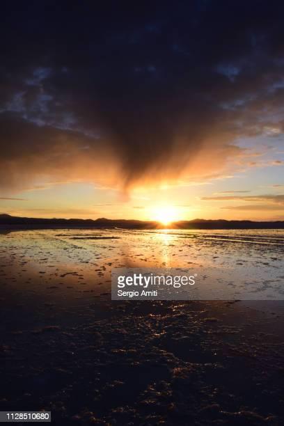 Sunrise reflections at Uyuni Salt Flats