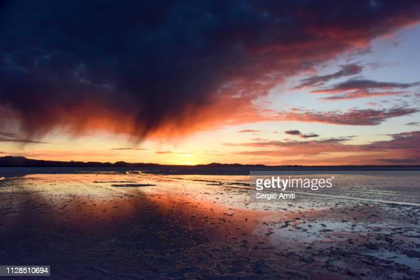 Sunrise reflections at Uyuni Salt Flats