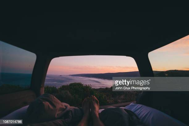 sunrise roadtrip - western australia stock pictures, royalty-free photos & images