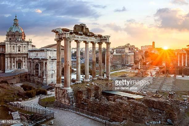 Sunrise, Roman Forum, Roma, Rome, Italy