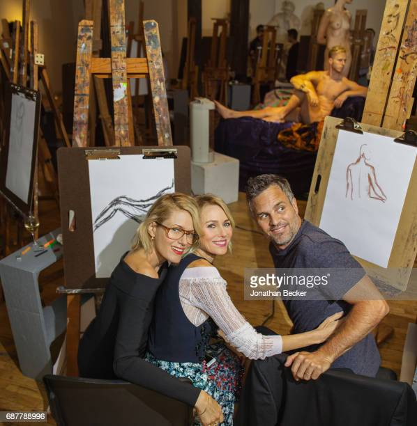 Sunrise Ruffalo Naomi Watts and Mark Ruffalo are photographed for Vanity Fair Magazine on September 15 2016 at a drawingparty fundraiser at the...