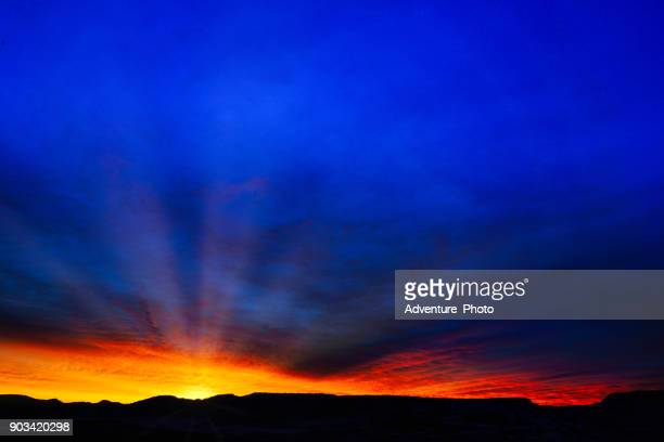 sunrise scenic canyon landscape in winter - fruita colorado stock pictures, royalty-free photos & images