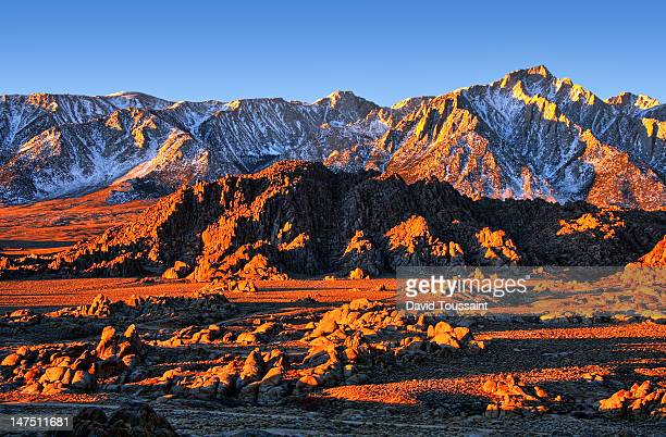 Sunrise shadows at Alabama Hills
