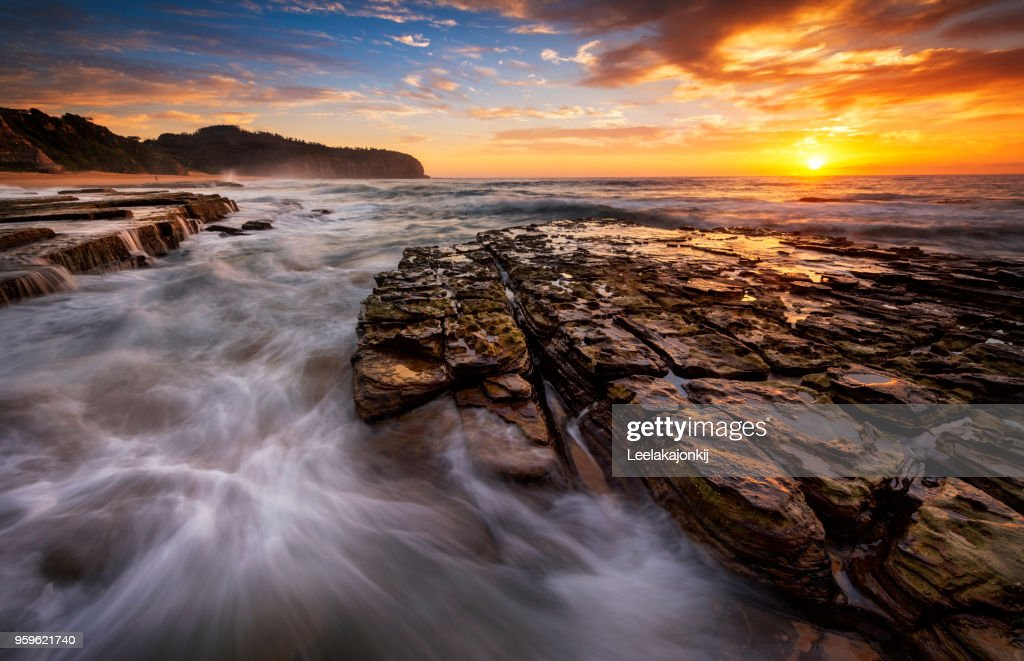 Sunrise Sydney seascape : Stock-Foto