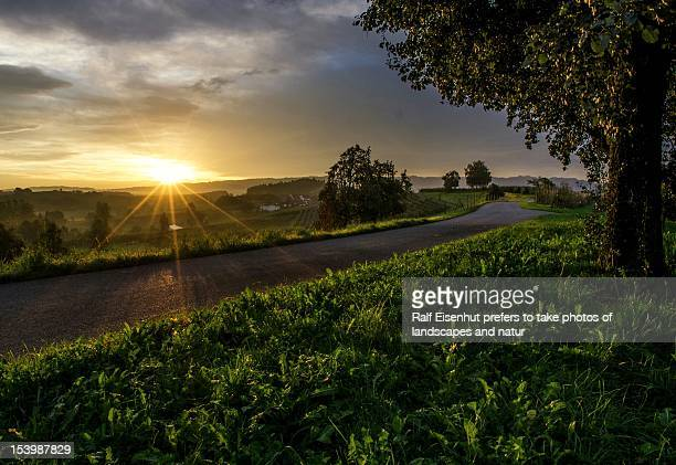 sunrise, taubenberg nearby bodolz, september 2012 - natur stock pictures, royalty-free photos & images