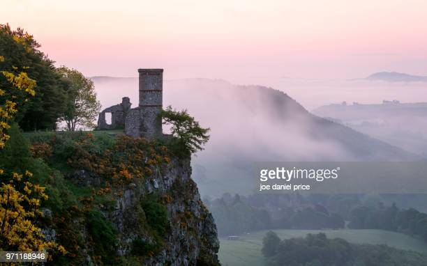 sunrise, the tower, kinnoull hill, perth, scotland - perth scotland stock pictures, royalty-free photos & images
