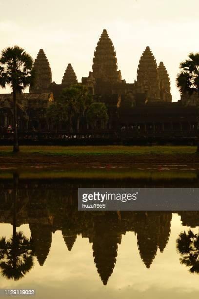 Sunrise time of Angkor Wat
