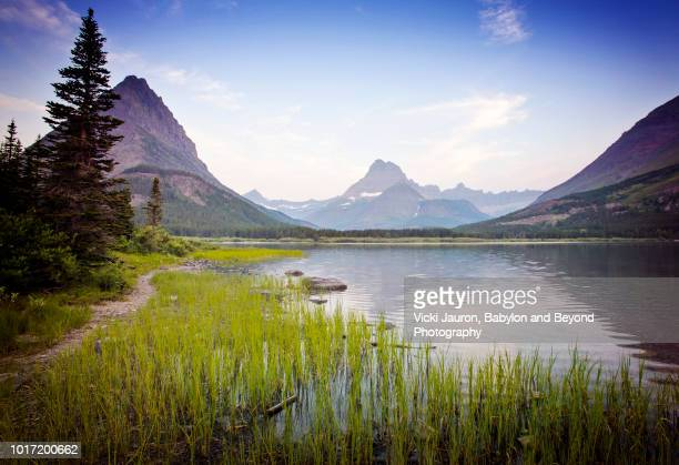 Sunrise Trail on Swiftcurrent Lake at Glacier National Park, Montana