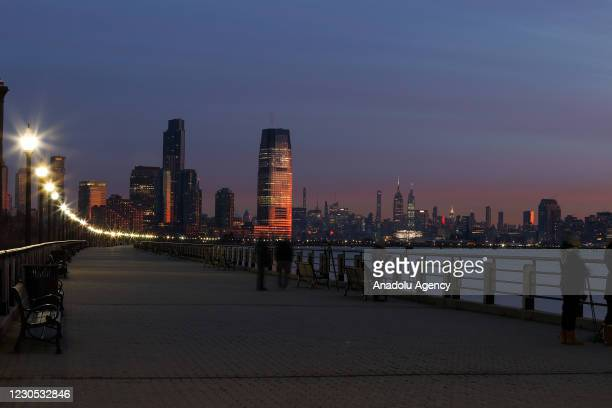 Sunrise view at Liberty State Park in Jersey City, New Jersey, United States on January 11, 2021.