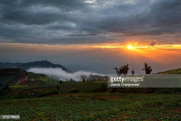 sunrise view at phu thap boek ,petchaboon - boek imagens e fotografias de stock