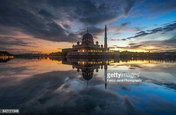Sunrise view in Floating Mosque Putrajaya