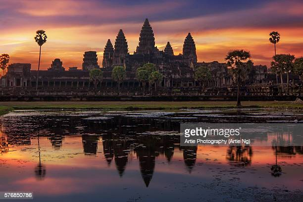 Sunrise with Angkor Wat, Siem Reap, Cambodia