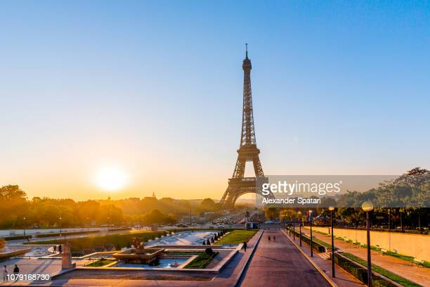 Sunrise with Eiffel Tower in Paris, France