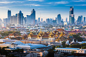 Sunrise with Grand Palace of Bangkok, Thailand