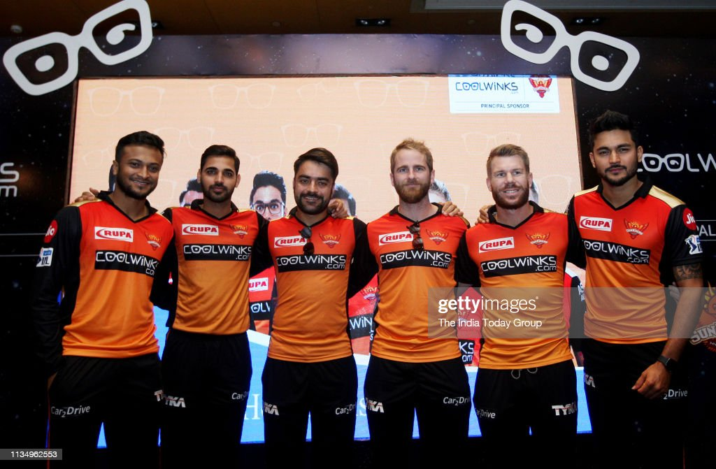 IPL Sunrisers Hyderabad Team Players at a Press Meet : News Photo