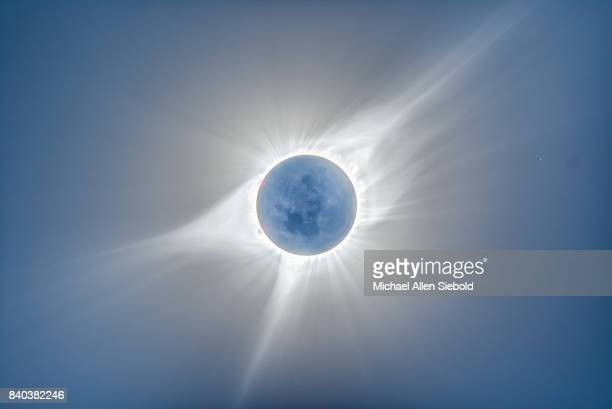 sun's corona - corona stock pictures, royalty-free photos & images
