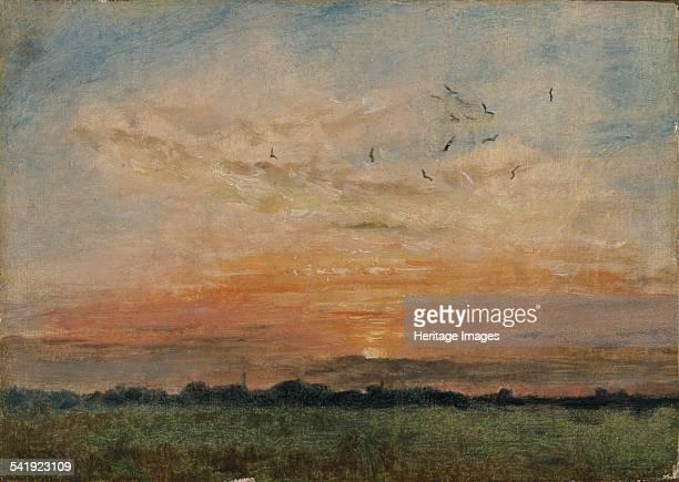 Sunset', 1796-1837. Artist: John Constable.