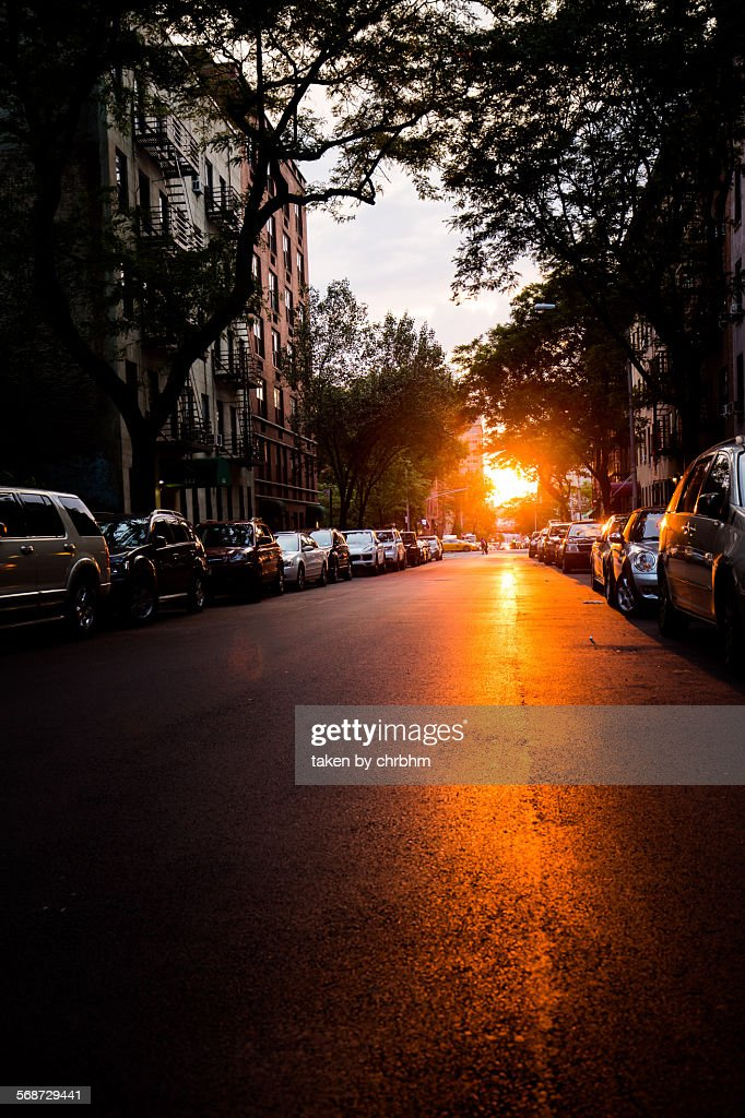 Sunset 48th Street. : Stock Photo