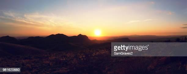 sunset above burro canyon, big bend national park, texas, usa - big bend national park stock pictures, royalty-free photos & images