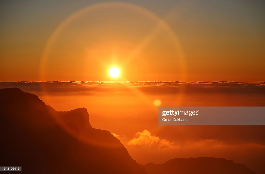 Sunset Above The Clouds : Stock Photo