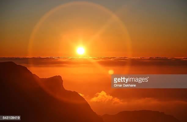 sunset above the clouds - image stock pictures, royalty-free photos & images