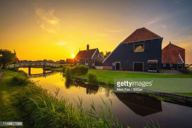 Sunset Above Zaanse Schans