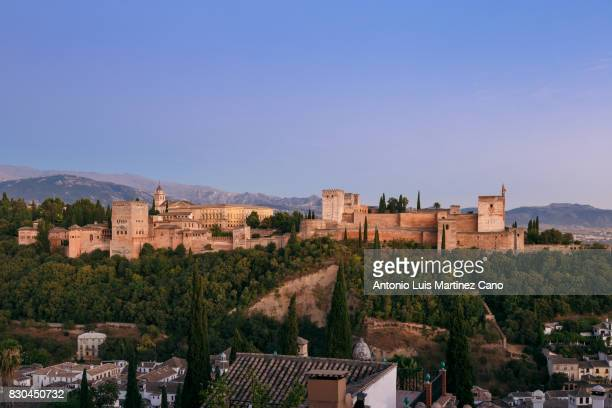 Sunset Alhambra from the Albaicin