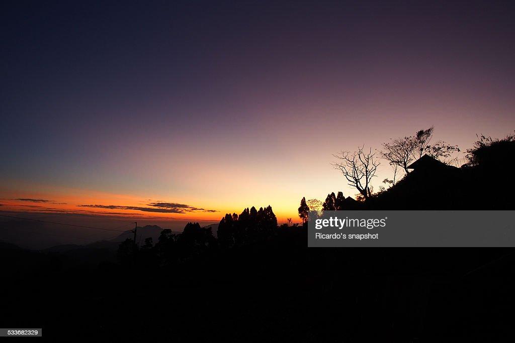 Sunset, Ali mountain : Foto stock