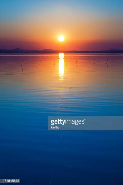 Sunset and lake