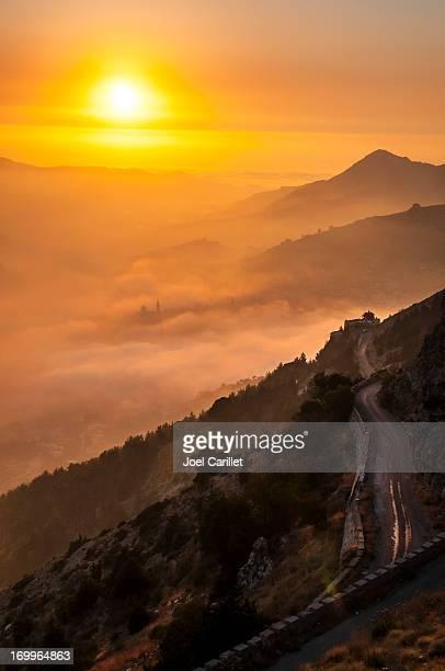 Tramonto, paesaggio Bcharre, Libano