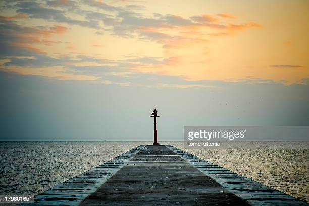 Sunset and little pier