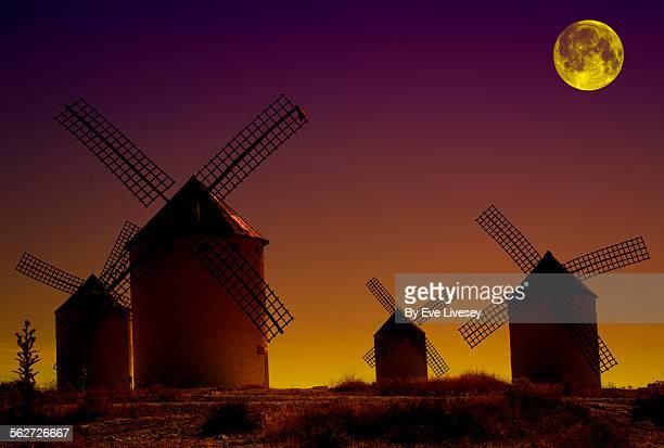 Sunset and Moon Windmills