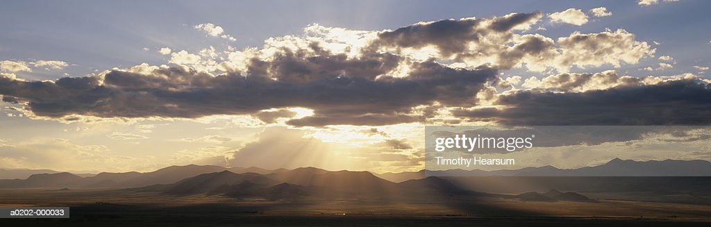 Sunset and Mountains : Stock Photo