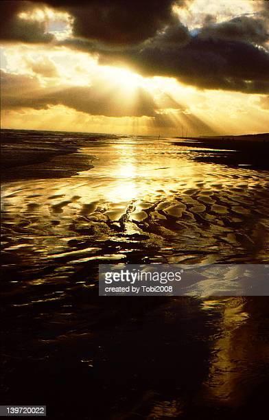 Sunset and sea Sonnenuntergang und Meer