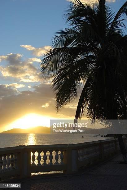 Sunset as seen from Esperanza#x2019s malecon or esplanade