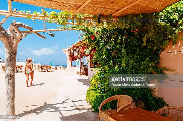 Sunset Ashram restaurant in Cala Compte beach