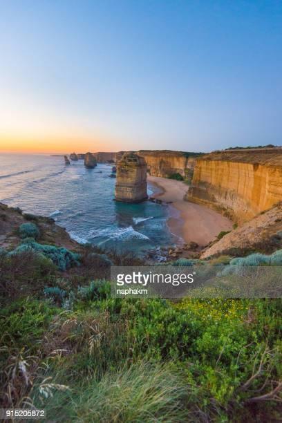 Sunset at 12 apostles,Great Ocean Road, Victoria, Australia