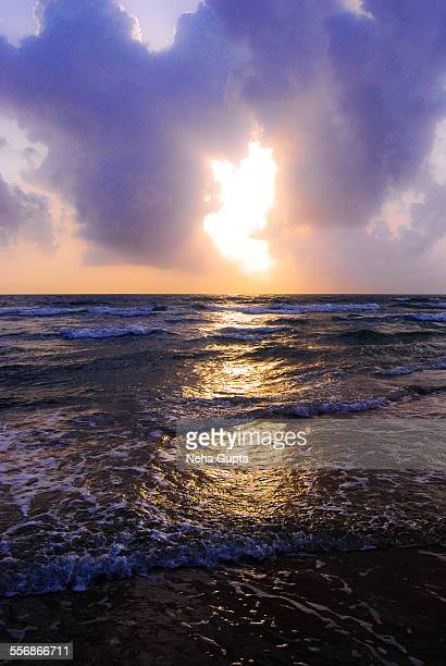 sunset at a goa beach - neha gupta stock pictures, royalty-free photos & images
